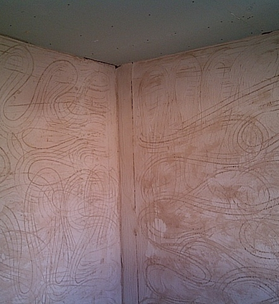 Walls are bonded and ceiling is boarded