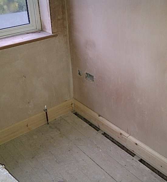 New skirting boards fixed