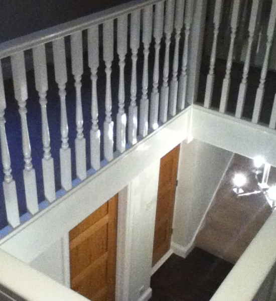 Freshly Painted Railings