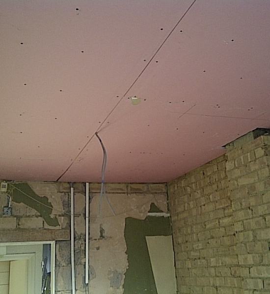 New fire rated plasterboard fixed