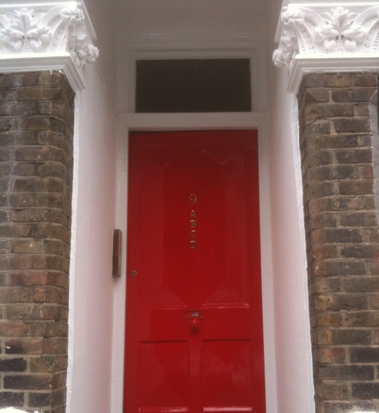 New Painted Front Door