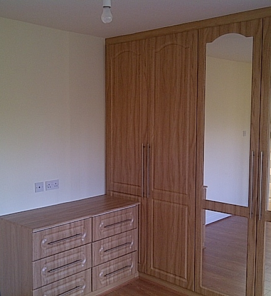New wardrobes and wooden flooring fitted
